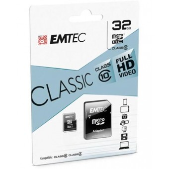 Carte MicroSDHC 32GB 3en1 Adaptateur sd/usb CL10