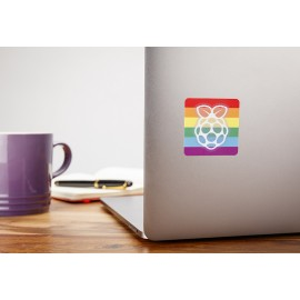 "Stickers officiel Raspberry Pi ""Rainbow"""