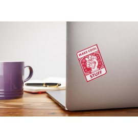 "Sticker officiel Raspberry Pi ""Make Cool Stuff"""