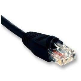 PATCH LEAD, CAT 5E, 1M BLACK