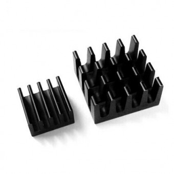 Set de 3 Heat Sink aluminium noir