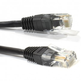 CABLE RJ 45 PATCH LEAD, CAT 5E, 2M BLACK