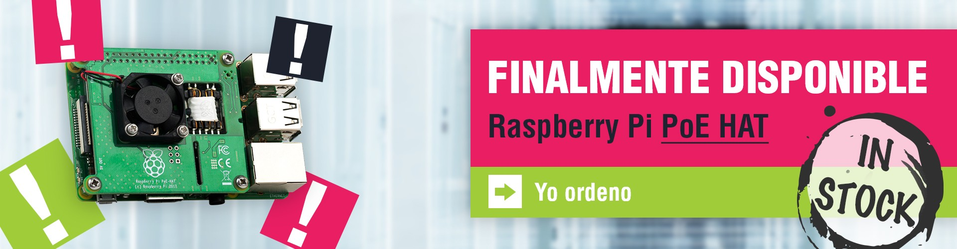 Finalmente disponible Raspberry PoE Hat